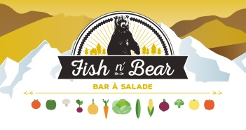 Illustration bar à salade Fish n' Bear