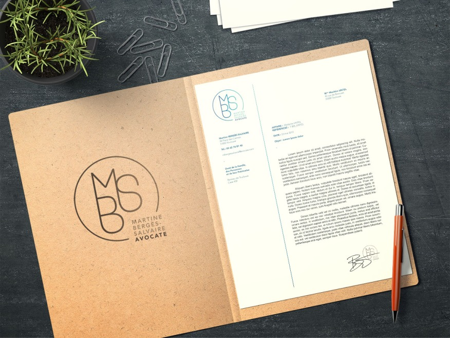 Papier entête MBS avocate