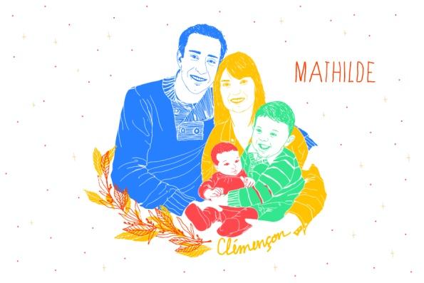 Recto faire-part Mathilde