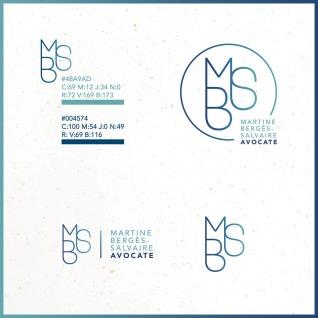 Logo et couleurs MBS avocate