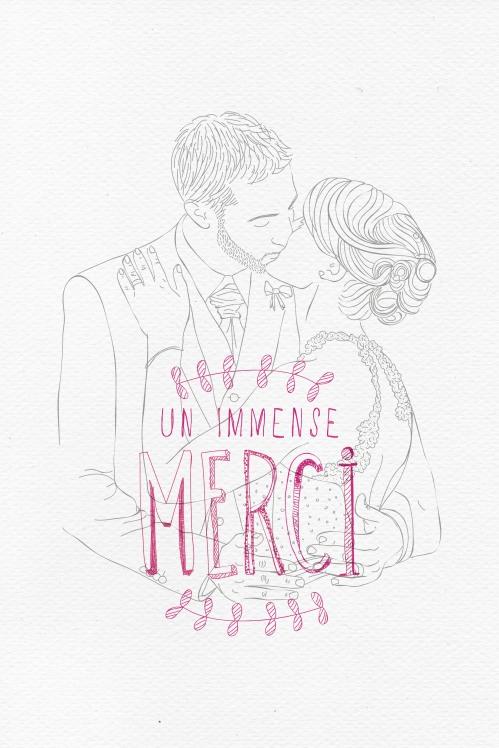 Remerciement mariage N&S