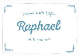 Faire-part naissance Raphael